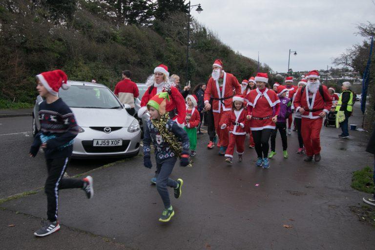 Santas Dashing Everywhere!