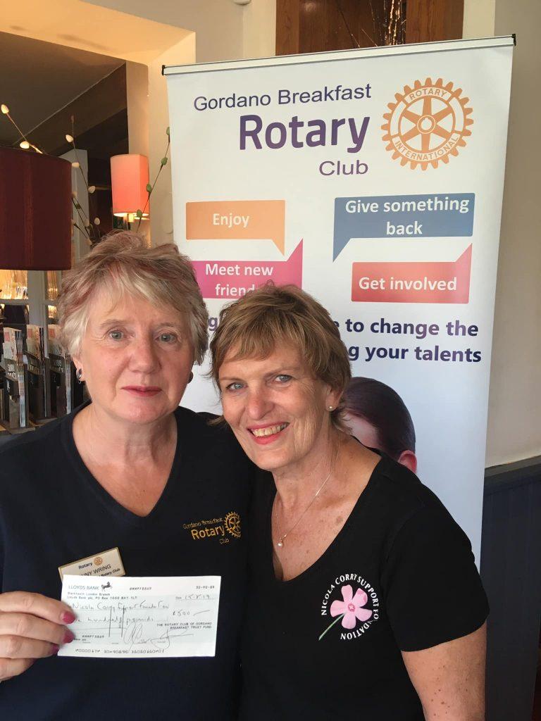 Cheque Presentation to Nicola Corry Support Foundation